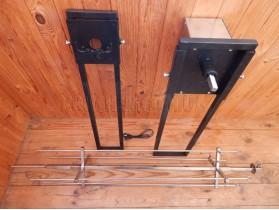 Крестообразный вертел с электроприводом для мангала до 25 кг